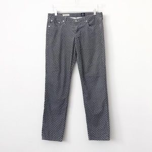 AG Gray Polka Dot Stevie Ankle Pants in Sz 30 R